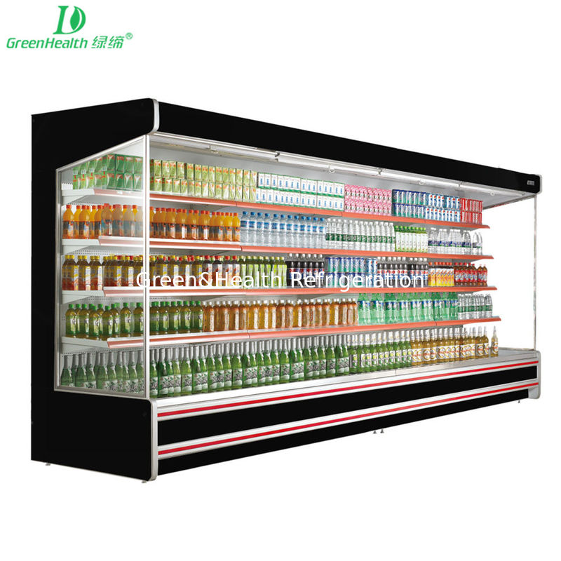 Customized Island Multideck Open Chiller / Supermarket Open Display Refrigerator