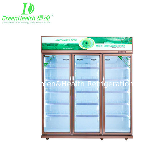 China Green Health Double Glass Door Pepsi Commercial Beverage Cooler Upright Refrigerator With