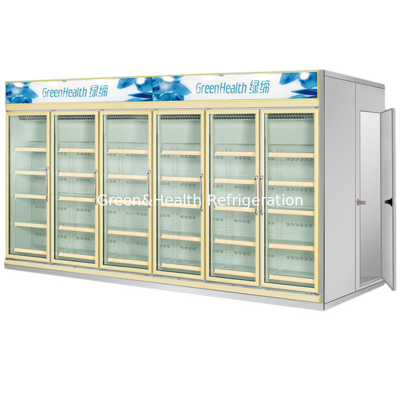 Multi Deck Dairy Glass Door Freezer Back Load Beverage