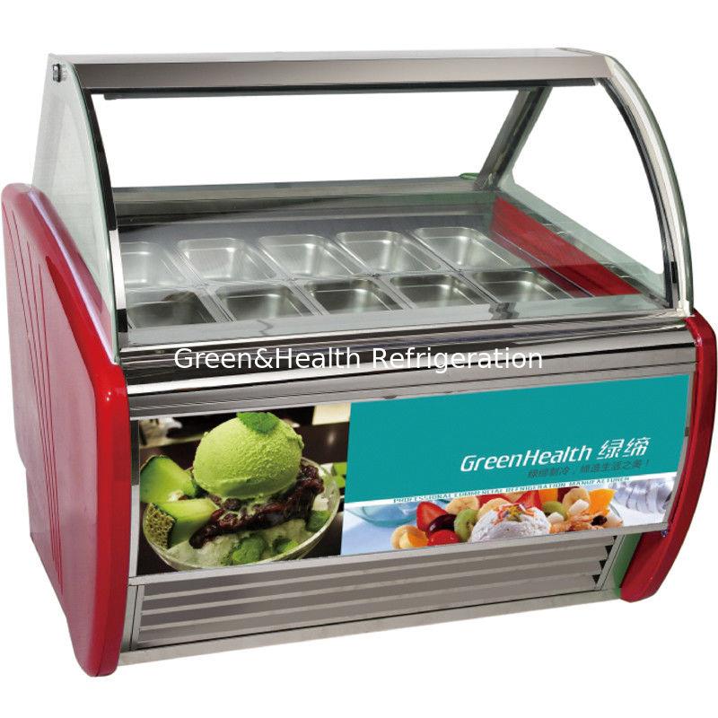 Economical Ice Cream Scoop Display Freezer 12 Trays With