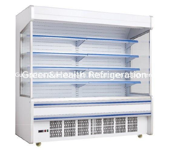 Adjustable Multideck Open Commercial Chiller , Beverage Drinks Coolers For Store