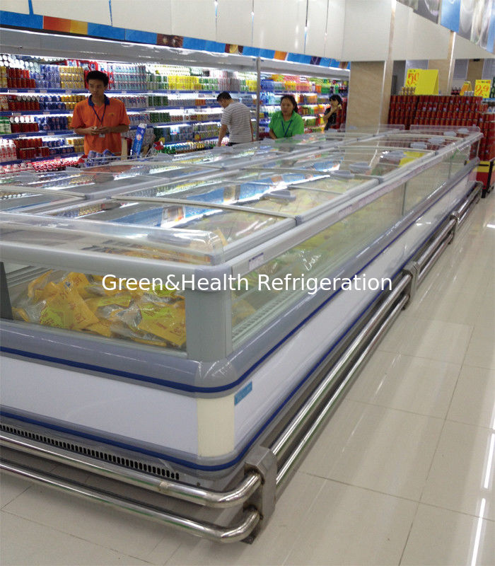 Self - Contained Supermarket Island Freezer -18°C Stainless Steel