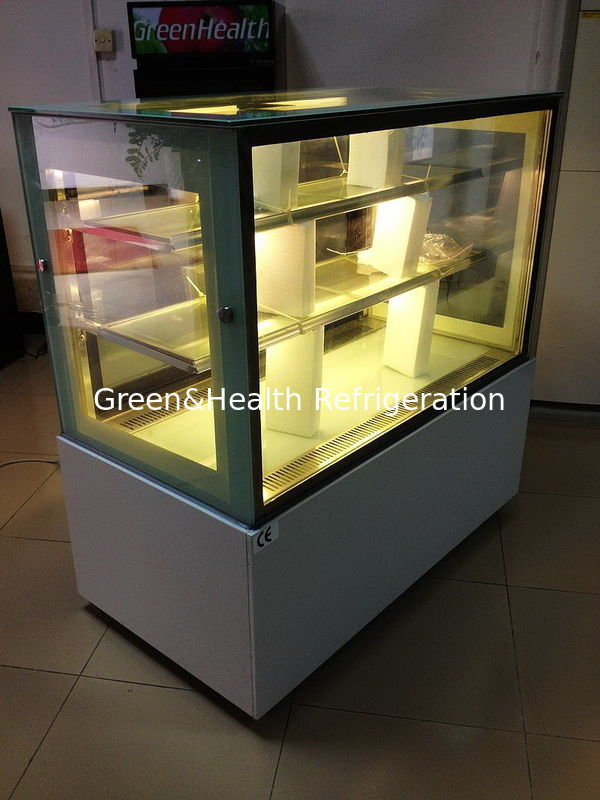 Sliding Double Doors Cake Display Cabinets Freezer 2