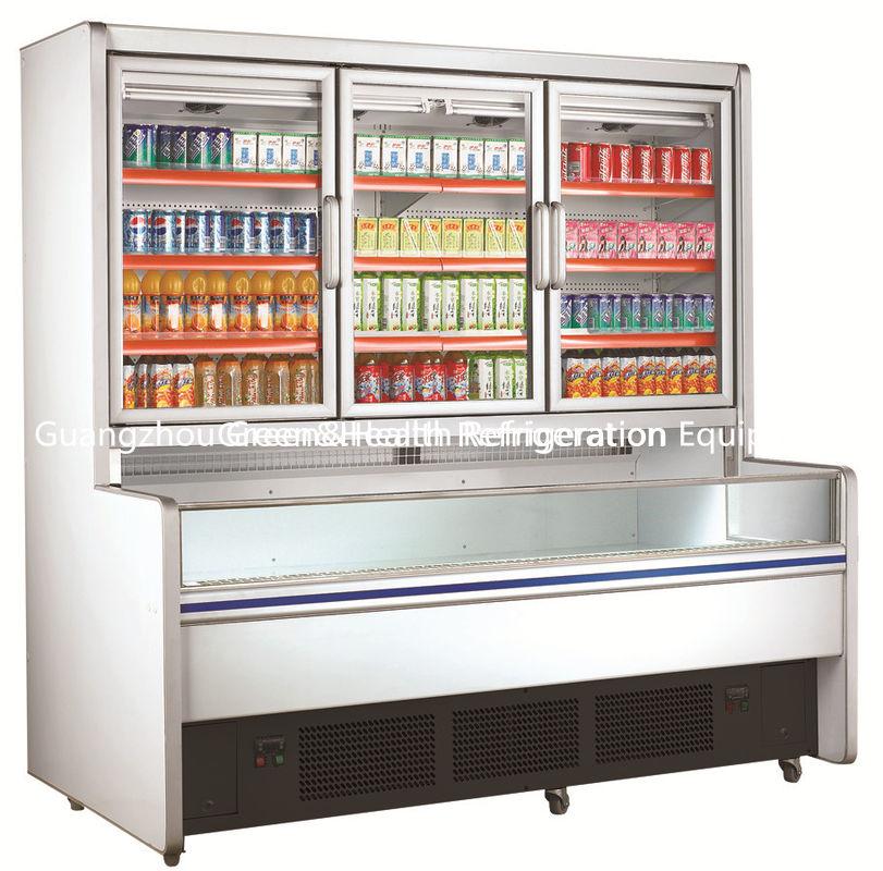 Freestanding 3 Doors Commercial Beverage Display