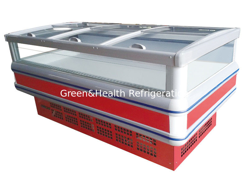 Sliding Doors Commercial Display Freezer 18 Degree With Double Island