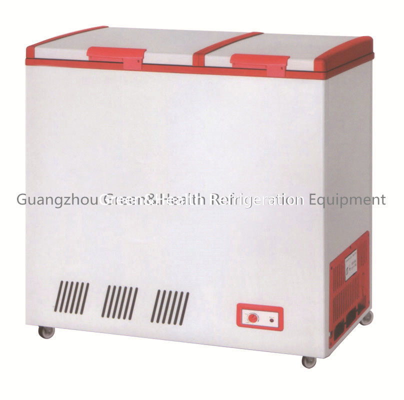 Curved Glass Door Frige R134a Ce Chest Freezer Automatic Defrost