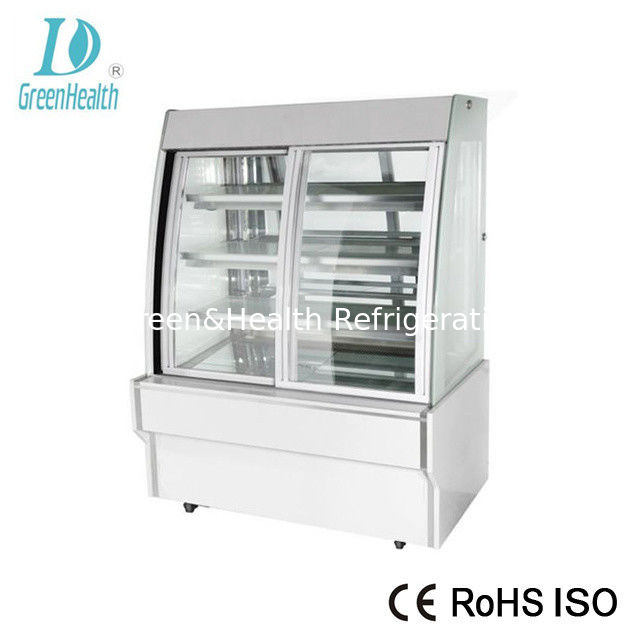 Movable Shelves Cake Bakery Display Showcase With Cold Air Or Warmer