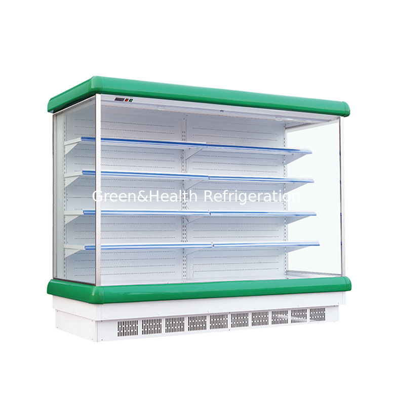 R22 Refrigerant Vertical Multideck Open Chiller With Air Curtain
