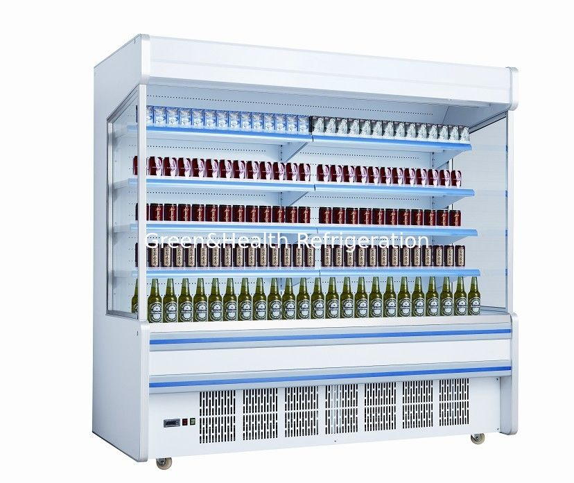 White Self Contained Open Display Fridge For Drinks Milk