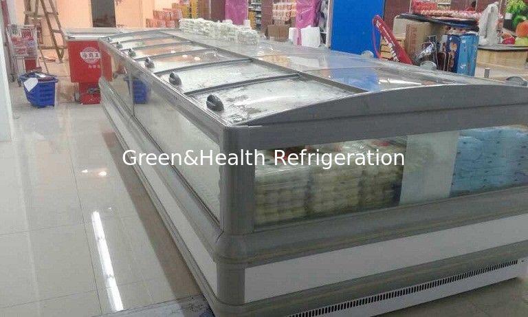 Supermarket 5m Double Side Island Display Freezer Remote