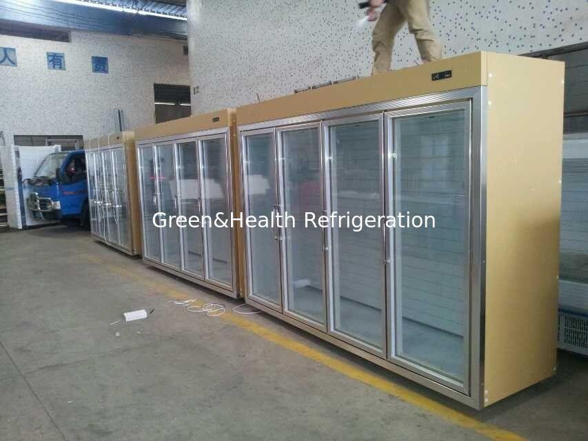 Gold Cool Storage Room Glass Display Fridge For Beverage And Milk. Fridge For Room