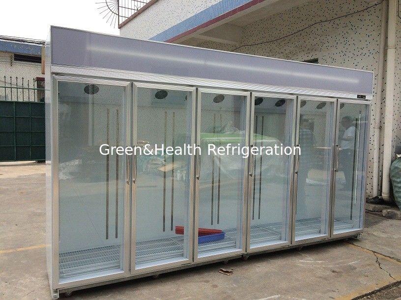 Free standing glass door refrigerator showcase cold storage chamber planetlyrics Choice Image