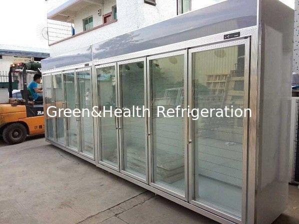 Heater Glass Door Commercial Beverage Cooler For Supermarket Store