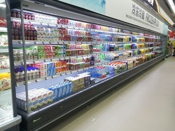 Supermarket Vegetable Multideck Open Chiller / Display Refrigerator Energy Saving