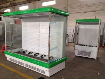 Health Built-In Compressor Multideck Open Chiller For Fruit / Vegetable / Beverage