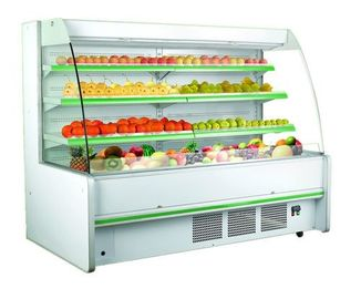 Three Shelves Cooler Multideck Open Display Refrigerator R404 / R22 Refrigerant