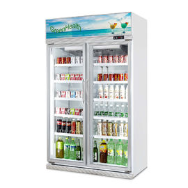 Glass door freezer on sales quality glass door freezer supplier supermarket air cooling commercial 800l energy drink display upright cooler planetlyrics Gallery
