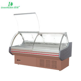 2m / 2.5m / 3m Supermarket Fresh Food Meat Display Refrigerator With Optional Warmer