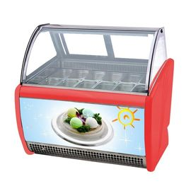 14 Flavors Ice Cream Display Cabinet Frozen Popsicle Display Showcase