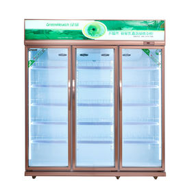 Commercial Vertical Display Freezer With Low Temperature For Meat Seafood