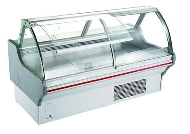 R404 Refrigerant Deli Display Fridge Case / 2m Long Meat Shop Equipment