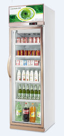 400L Commercial Beverage  Cooler / Drink Refrigerator Glass Door Single