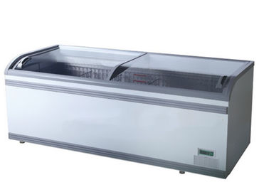 Supermarket Sliding Glass Door Island Freezer With Large Space 1.2m 1.85m 2.5m Length