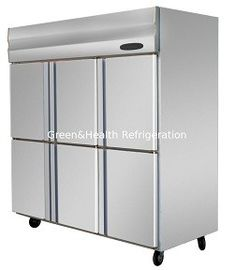 Stainless Steel Commercial Stand Up Freezer For Chicken With 2 / 4 / 6 Glass Doors