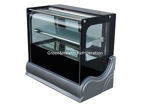 Manual Defrost Cake Display Freezer / Bakery Display Cooler With Customized Floor Standing Or Table Top Counter