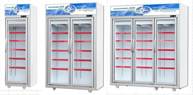 Auto - Defrost Vertical Commercial Display Freezer For Meat Seafood With 1 / 2 / 3 Doors