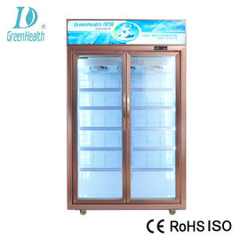 Automatic Defrost Commercial Beverage Cooler / Walk In Fridge Freezer With Glass Door