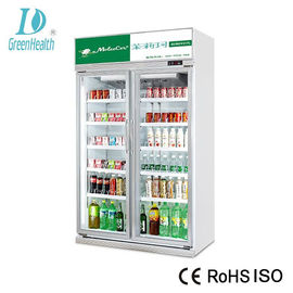 China Upright 2 Doors Commercial Beverage Cooler With 1250L 5 Layer Adjustable factory