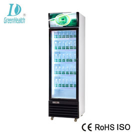 Upright Commercial Cold Drink Beverage Cooler For Retail Store With Glass Door