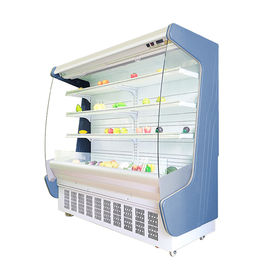 remote system supermarket open refrigerator chiller showcase for vegetable beverage showcase
