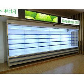 Painted Steel Multideck Open Chiller , Supermarket Dairy Display Fridge