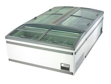 8 Ft Large Supermarket Freezer Sliding Glass Door Freezer For Chicken Storage