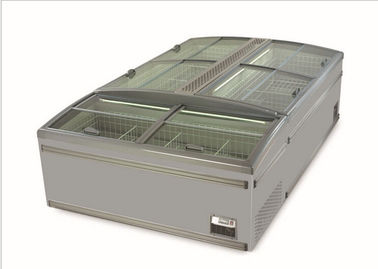 China -22°C - 18°C Supermarket Seafood Display Island Freezer With Glass Door Energy - Saving factory