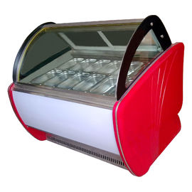 Economical Ice Cream Display Freezer 1260W 12 Trays For Supermarket