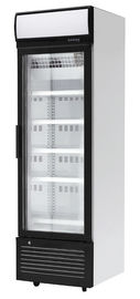 China Static Cooling Single Glass Door Freezer For Beverage Display Cooler In Store factory