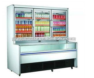 Commercial Combination Freezer For Frozen Food With Limited Space / Drinks Display Fridge