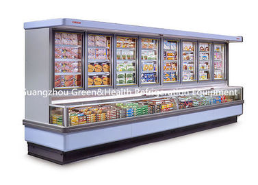 Painted Steel Combined Display Refrigerator Island Freezer With Big Capacity With Dynamic Cooling