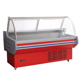 Red / White Meat Display Cooler , 0°C - 10°C Deli Display Refrigerator For Shop