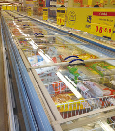 Self - Contain Cooling Commercial Display Freezer Open Top 90mm thick For Store