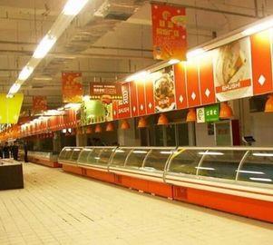 Stainless Steel Shelf Deli Display Fridge Custom For Supermarket