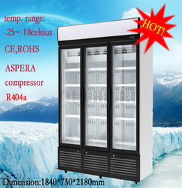 1260 Liter Commercial Glass Display Freezer 5 Tiered With Environmental Protection