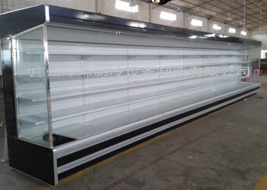 Large hypermarket commercial refrigerators Chiller With Multideck Showcase / Meat Counter