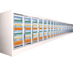 High Effiency Supermarket Projects Providing Glass Door / Deli Freezer