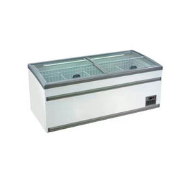 Hypermarket Commercial Chest Freezer With Alluminum , Coated Plate , Glass Material