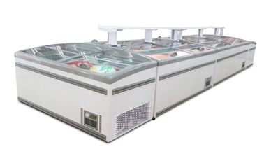 China Static Cooling Commercial Display Freezer , Glass Door Ice Cream Display Showcase factory