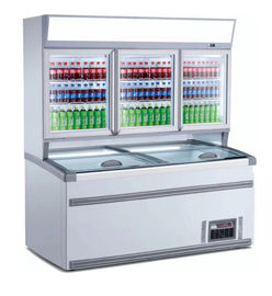 China Dual Temperature Upright Combination Freezer With Top Sliding Door factory